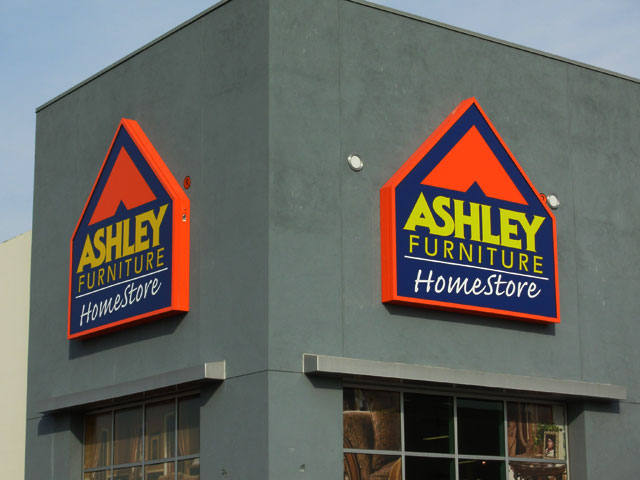 Ashley Furniture Cabinet Sign