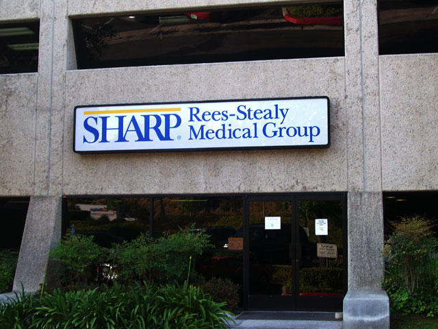 Sharp Cabinet Sign
