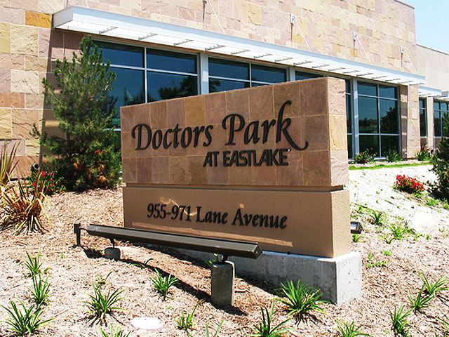 Doctors Park East Lake Monument Sign